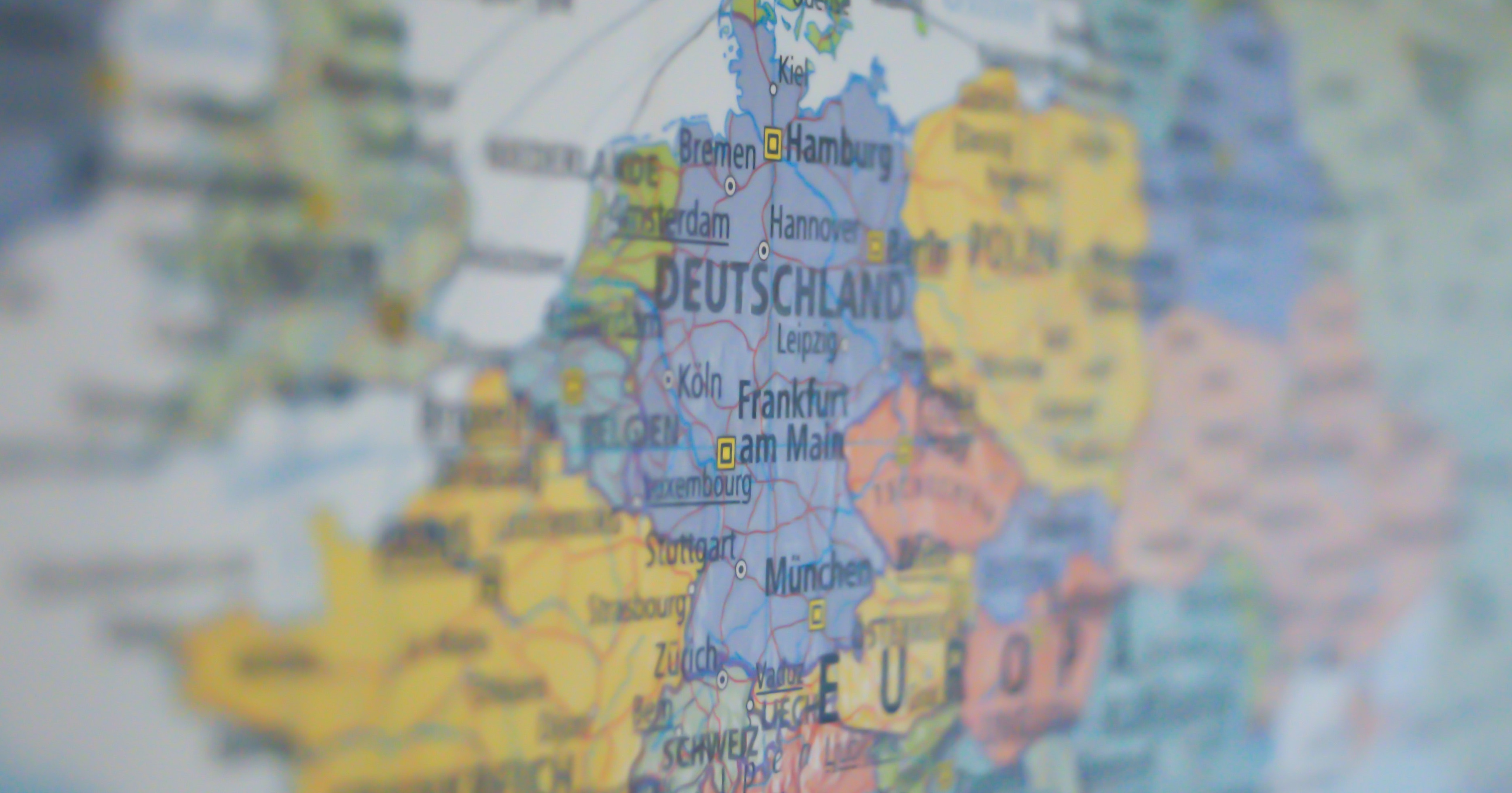 europe map blur