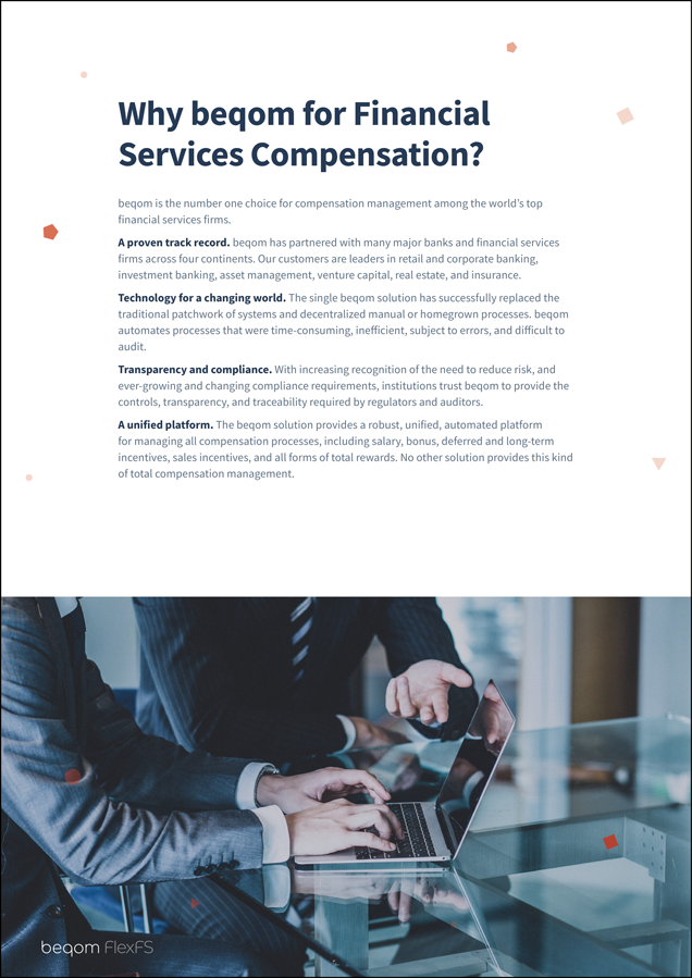 Transforming Compensation Management in the Financial Services Industry
