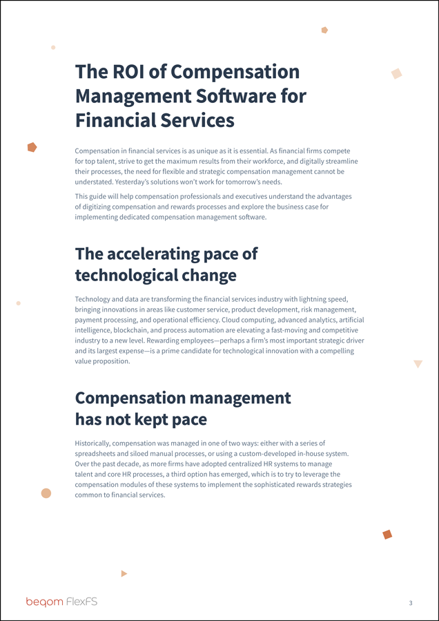 The ROI of Compensation Management Software  for Financial Services